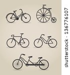 Bicycle Set  Vector Illustration