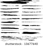 grunge brushes. check my...   Shutterstock .eps vector #13677640