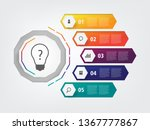 info graphic layout design... | Shutterstock .eps vector #1367777867