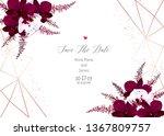 marsala colored dark and white... | Shutterstock .eps vector #1367809757