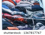 blue and red hues of clothing... | Shutterstock . vector #1367817767