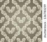 seamless wallpaper pattern   Shutterstock .eps vector #136783259