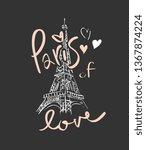 Paris Of Love Slogan  With...
