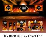 a pack of 3d event design... | Shutterstock .eps vector #1367875547