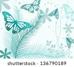 Butterflies And Ferns