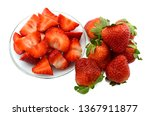 strawberry fruit isolated on... | Shutterstock . vector #1367911877