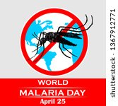 world malaria day with no... | Shutterstock .eps vector #1367912771
