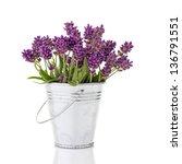 Lavender In A Metal Bucket...