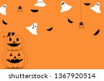 funny halloween greeting card. | Shutterstock .eps vector #1367920514