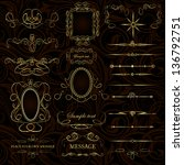 vector set of calligraphic... | Shutterstock .eps vector #136792751