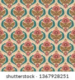 abstract  mughal motif seamless ... | Shutterstock . vector #1367928251