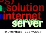 solution internet server | Shutterstock . vector #136793087