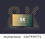television set with 8k ultra hd ... | Shutterstock .eps vector #1367939771