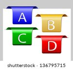 four colorful dividers with... | Shutterstock .eps vector #136795715