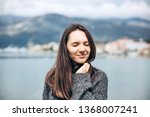 young beautiful girl enjoys...   Shutterstock . vector #1368007241