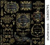 vector set  calligraphic design ... | Shutterstock .eps vector #136800791