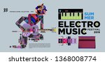 vector summer electro music... | Shutterstock .eps vector #1368008774