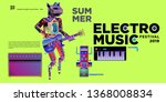 vector summer electro music... | Shutterstock .eps vector #1368008834