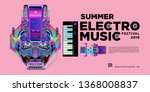vector summer electro music... | Shutterstock .eps vector #1368008837
