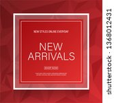 new arrival banner with red... | Shutterstock .eps vector #1368012431