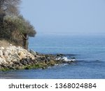 beach landscape  rocky seashore ...   Shutterstock . vector #1368024884