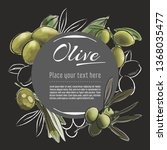 olive vector hand drawn healthy ... | Shutterstock .eps vector #1368035477