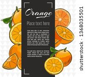 orange fruit vector menu design ... | Shutterstock .eps vector #1368035501