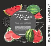 melon vector hand drawn healthy ... | Shutterstock .eps vector #1368035507