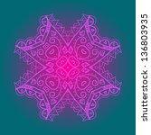 oriental mandala motif round... | Shutterstock .eps vector #136803935