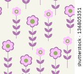 seamless pattern with flowers... | Shutterstock .eps vector #136805351