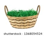 Easter basket with grass...