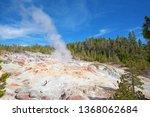 steamboat geyser eruption in... | Shutterstock . vector #1368062684