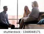 young office workers interns... | Shutterstock . vector #1368068171