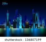 night city | Shutterstock .eps vector #136807199