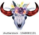 set of hand painted watercolor... | Shutterstock . vector #1368081131