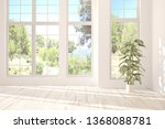 stylish empty room in white... | Shutterstock . vector #1368088781