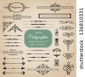 calligraphic design elements... | Shutterstock .eps vector #136810331