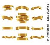 gold ribbon set inisolated... | Shutterstock .eps vector #1368103451