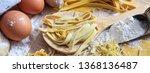 pasta homemade preparation ... | Shutterstock . vector #1368136487