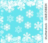 christmas pattern with a... | Shutterstock . vector #1368158834