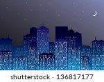 night city | Shutterstock .eps vector #136817177
