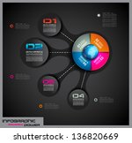 infographic layout template... | Shutterstock .eps vector #136820669