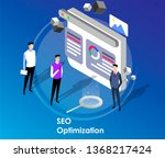 landing page people team work...   Shutterstock .eps vector #1368217424