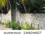 stone wall of a maldivian... | Shutterstock . vector #1368246827