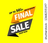 final sale banner. vector... | Shutterstock .eps vector #1368255197