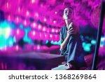 beautiful lady posing on...   Shutterstock . vector #1368269864