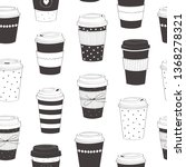 Coffee Cup Pattern. Vector...