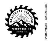 vintage badge wood carpentry... | Shutterstock .eps vector #1368283301