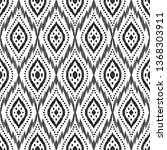 tribal seamless background.... | Shutterstock .eps vector #1368303911