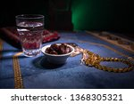 water and dates. iftar is the... | Shutterstock . vector #1368305321